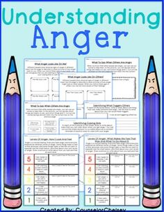 Activities to help students identify anger, learn their anger triggers and…
