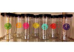 16 oz personalized tumbler cup by WhiteElephantMonogrm on Etsy, $16.00