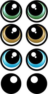 PRINT YOUR OWN Eye Stickers Template pack cartoon eye Pack print Stickers Template - fix. Clay Pot Crafts, Diy And Crafts, Crafts For Kids, Paper Crafts, Doll Eyes, Doll Face, Shopkins Characters, Eye Stickers, Cartoon Eyes
