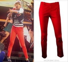 The RED Tour | 22/Everything Has Changed/Begin Again/Sparks Fly | [5/11] Joie 'Morden Pants' - $194.00 Worn with: Michael Kors sweater and Miu Miu oxfords Track Taylor's RED Tour wardrobe here.