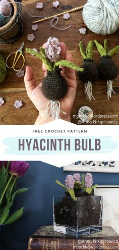 When we think about crochet flowers, we immediately think about appliques or floral motifs on blankets and other projects. This is understandably the Crochet I Cord, Crochet Wreath, Crochet Home, Crochet Gifts, Diy Crochet, Crochet Bouquet, Irish Crochet, Crochet Ideas, Crochet Flower Patterns