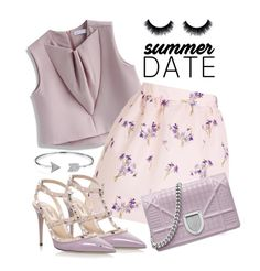 """""""Summer date"""" by jaynebrowncreates ❤ liked on Polyvore featuring Chicwish, RED Valentino, Valentino and Bling Jewelry"""