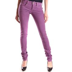 Pinko Pinko Women's Purple Cotton Jeans | Bluefly.Com ($275) ❤ liked on Polyvore featuring jeans, purple, white jeans, purple jeans and pinko jeans