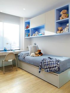 Ideas Simple Designs of Children's Bedrooms that Will Make Children Comfortable at Home * Small Room Design, Home Room Design, Kids Room Design, Kids Bedroom Furniture, Home Decor Furniture, Bedroom Decor, Small Room Bedroom, Trendy Bedroom, Kids Bedroom Designs