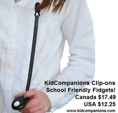 Bites? Fidgets?  Child or Student NEEDS a C☺☺L-for-School quiet fidget? ◘GET Canadian made KidCompanions Clip-ons ◘Great QUIET Fidget Tools! ◘Perfect length to be a fidget or a chewy. ◘Clip-on lanyard may be bought separately also! ◘Buy online here: http://kidcompanions.com/product-category/chewelry-2/page/2 #ADHD #AutismFamilies #pediOT