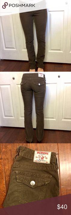 TR Cords Super CUTE! Brown cords, boot cut, super comfy! So CUTE! True Religion Pants Boot Cut & Flare