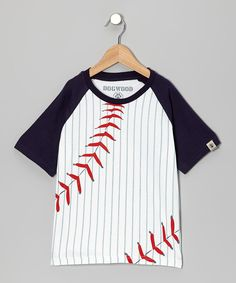 Look at this Dogwood Navy Baseball Tee - Toddler & Boys on #zulily today!