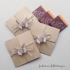 Origami Envelopes Butterfly Chocolate