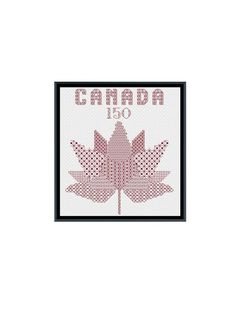 Canada 150 Logo Blackwork Cross Stitch Pattern by StitcherzStudio on Etsy