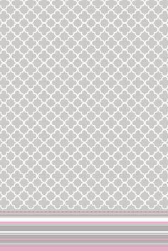 Grey white pink quatrefoil stripes iphone wallpaper phone background lock screen