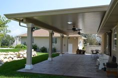 Stucco Trimmed Patio Cover Gallery | Warburton's Inc.