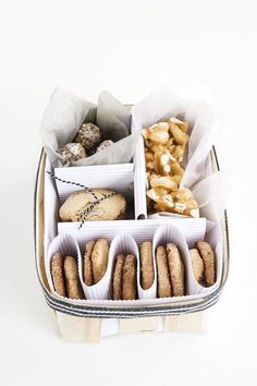homemade treats presented in a gift box