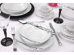Aparelho de Jantar Oriental 20 Peças - em Porcelana Etilux APJA002 com as melhores condições você encontra no Magazine Ubiratancosta. Confira!