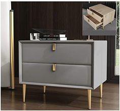 Bedside Table Design, Modern Bedside Table, Bedroom Bed Design, Home Decor Bedroom, Modern Bedroom, Home Decor Furniture, Bedroom Furniture, Bedroom Chest, Side Tables Bedroom