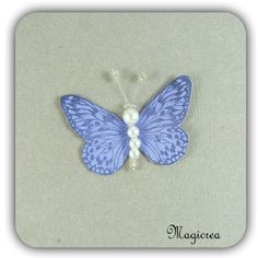 STICKER PAPILLON SOIE 5 CM VIOLET - Boutique www.magicreation.fr