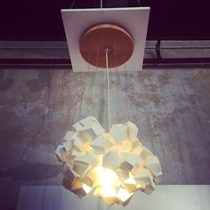 'Cumulus' Beautiful timber and porcelain pendant by @eugenie_kawabata featured in Fringe Furniture @melbfringe @abbotsfordconvent #melbournefringe #design #designers #designlife #cumuluslighting #porcelain #homewares #interiordesign #interior #handmade #light #lights #lightingdesign #lighting #pendantlight #pendant #decorativelighting #featurelighting #inspiration #electrician #electrical #electricians #homedecor #home #abbotsfordconvent