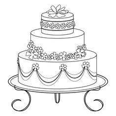 Image detail for -See my Crafts - Digital Art: Digital Stamp: Wedding Cake