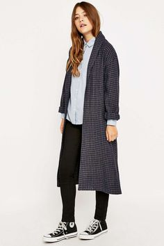 Urban Outfitters Houndstooth Coat