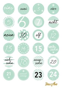 Printables von Douglas für Deinen DIY Adventskalender. ♥ Printables by Douglas for your DIY advent calendar.