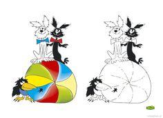 Omalovánky postavy z večerníčku | i-creative.cz - Inspirace, návody a nápady pro rodiče, učitele a pro všechny, kteří rádi tvoří. Rooster, Snoopy, Creative, Animals, Fictional Characters, Inspiration, Art, Biblical Inspiration, Art Background