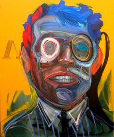 Cabeza de profeta. óleo sobre tela 120 x 100 cm. 2006.