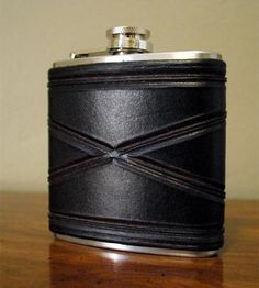 Tooled Leather & Stainless Steel Flask | This leather and stainless steel flask is built for adventure.... | Flasks