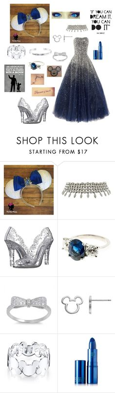 """""""Mickey Mouse Ears (60th Anniversary, Formal)"""" by hannahc1133 ❤ liked on Polyvore featuring Marchesa, Bulgari, Dolce&Gabbana, Disney and Lipstick Queen"""