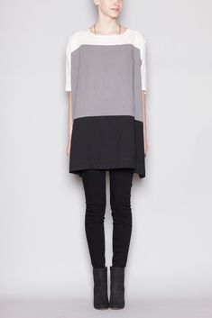 UZI Color Block Dress (Grey)