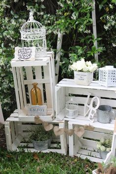 Vintage rustic chic Wedding via Kara's Party Ideas KarasPartyIdeas.com The Place…