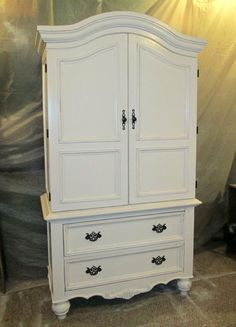 Armorie painted white and distressed!