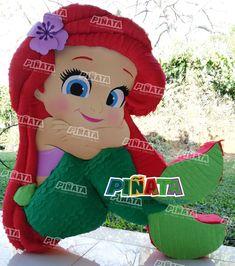 Little Mermaid Birthday, Little Mermaid Parties, Baby Girl Birthday, Birthday Fun, The Little Mermaid, Birthday Party Themes, Princess Pinata, Mermaid Pinata, Birthday Party Centerpieces