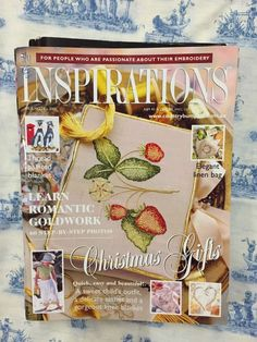Inspirations Magazine: The World& most beautiful Embroidery Issue 28 Inspirations Magazine, Linen Bag, World's Most Beautiful, Kids Outfits, Delicate, Romantic, Embroidery, Classic, Pattern