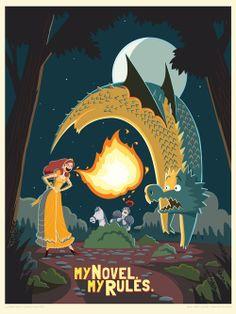My Novel. My Rules. Fire-breathing Princess. Art by Charles Santoso. Chris Bay Studios.