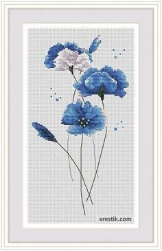 embroidery cross schemes flowers | Sross stitch patterns flowers
