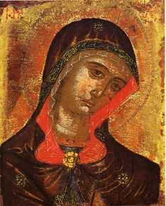 Christmas Card - Bust of the Virgin from a Deisis. ATHENS – BENAKI MUSEUM – BUST OF THE VIRGIN FROM A DEISIS. IONIAN ISLAND WORKSHOP. 18th c. DONATED BY MARIA AND TASSOS VALADOROU. Text card: ΘΕΡΜΟΤΑΤΕΣ ΕΥΧΕΣ, WARMEST GREETINGS. Text card: blank