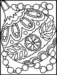 nice christmas ornament coloring page