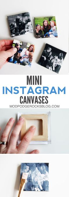 It's one of my favorite apps on my smartphone - here's a great tutorial for making Instagram mini canvases using Mod Podge. It's fun and easy! via @modpodgerocks