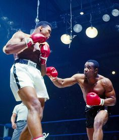 Muhammad Ali vs. Sonny Liston. Ali was a huge underdog, but shook up the world with his win!