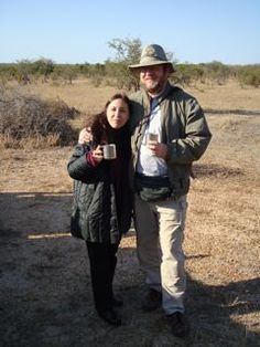 with Cissa in Kruger National Park, South Africa
