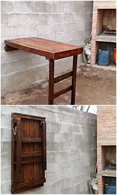 This wood pallet creation do look unique but at the same time many of the house makers are confuse with its utilization. This structure creation of the wood pallet has been equally set with the wall decoration custom use but at the same time it do has the feature of the folding desk capacity too. You will although be finding it different and innovative.