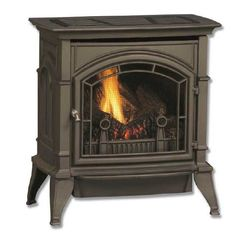 Shop CSVF Series Vent Free Gas Stoves - Cast Iron and Enamel Stoves from Majestic Products Gas Stove Fireplace, Vent Free Gas Fireplace, Gas Fireplaces, Stove Vent, Propane Stove, Natural Gas Stove, Fireplace Supplies, Fireplace Ideas