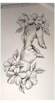 Baby Girl Drawing, Girl Drawing Sketches, Girly Drawings, Dark Art Drawings, Art Drawings Sketches Simple, Pencil Art Drawings, Tattoo Drawings, Cool Sketches, Simple Sketch Drawing