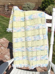 STRIPES, RIPPLES :: VARIEGATED AND SOLID COLORS  ~~~  Baby Blanket