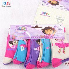 2016 New Dora girls socks 10 pairs/lot baby children 95% cotton brand socks kids adult cartoon top quality socks, HI108   Price: US $7.99   http://www.bestali.com/goto/32320594512/10