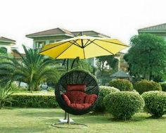 Backyard ideas with garden swings. You can host garden celebrations, kick back in the sunlight, expand a veggie garden as well as most of all Garden Lounge Chairs, Garden Swing Seat, Balcony Table And Chairs, Outdoor Dining Chair Cushions, Garden Swings, Amazing Gardens, Beautiful Gardens, Outdoor Wooden Swing, Cheap Dining Room Chairs