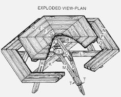 Hexagon picnic table plans bench style