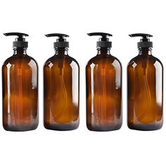 4 pack Amber Glass Bottle Bottles with Plastic Pump.Eco-friendly 8oz 8 oz Refillable Bottle for Cooking Sauces,Essential Oils,Lotions,Liquid Soaps or Organic Beauty Products(4 Chalkboard Labels free) * You can find more details by visiting the image link. (This is an affiliate link) #ToolsAccessories