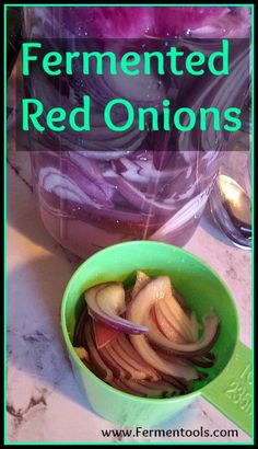 #Fermented #red #onions are crunchy and packed with flavor.