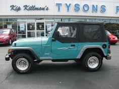 Teal Jeep Wrangler | 1998 Jeep Wrangler 4x4 Teal Custom Wheels 5 Speed NICE