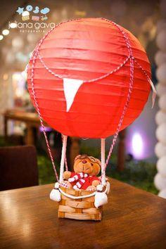 Hot Air Balloon & Traveller Teddy Centerpiece